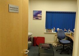Treatment Room At The Chiropractic Clinic, Llandarcy Academy Of Sport